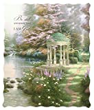 Quilted Throw Blanket - - 50 x 60 inches - The Garden of Prayer - Psalm 49:10 KJV
