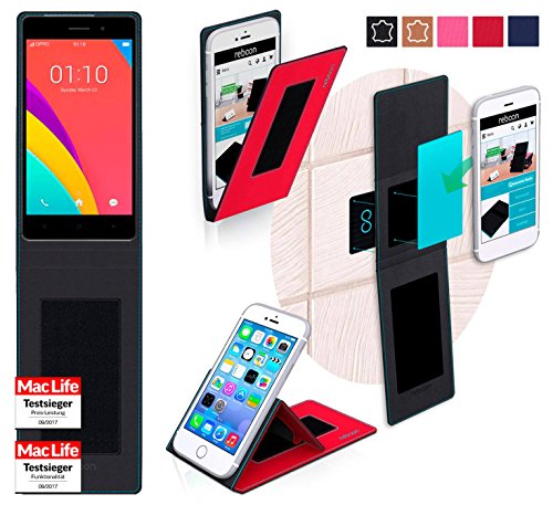 reboon Hülle für Oppo R5s Tasche Cover Case Bumper   Rot   Testsieger