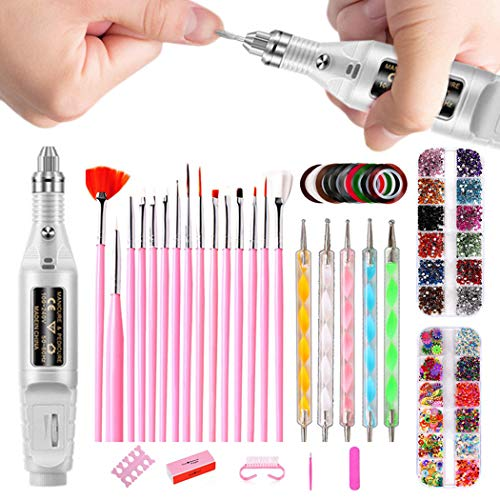 ZOYLINK Nail Art Manicure Set Nail Drill Dotting Tool Set Nail Art Tool Nail Art Kit