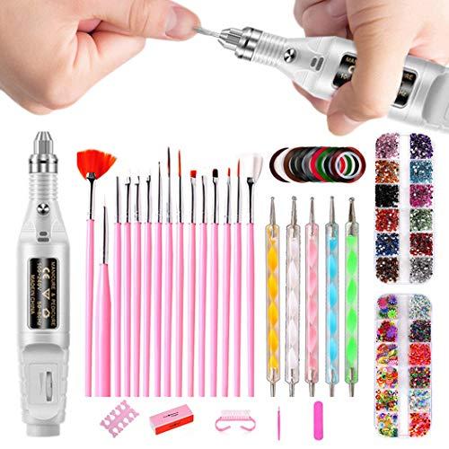Kapmore Nail art manucure set mode créative assorties nail art fournitures nail art outil