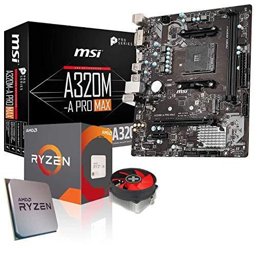 Memory PC Aufrüst-Kit Bundle AMD Ryzen 5 3600 6X 3.6 GHz, 16 GB DDR4, MSI A320M-A Pro Max Mainboard, komplett fertig montiert inkl. Bios Update