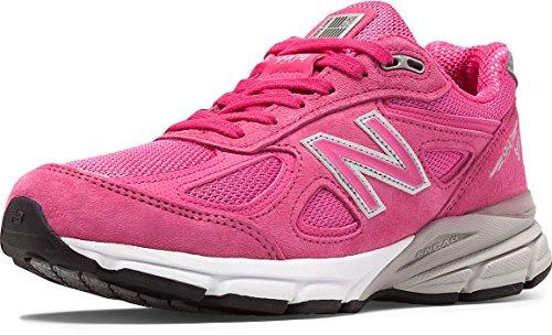New Balance Women's w990v4, Pink/Purple, 8 2A US