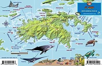 St John USVI Dive Map Fish ID Virgin Islands Franko Maps Waterproof Fish Card