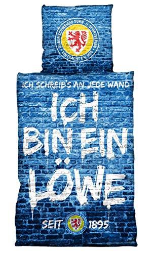 Eintracht Braunschweig Bettwäsche - Ich Bin EIN Löwe - nachtleuchtend 2-teilig BTSV - Plus Lesezeichen Wir lieben Fußball