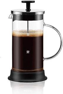 Cafetera de émbolo Francés Prensa Bote de Vidrio Mano Brewed Coffee Pot Pot Inicio Manual de té Filtro Base de la Taza Tom...