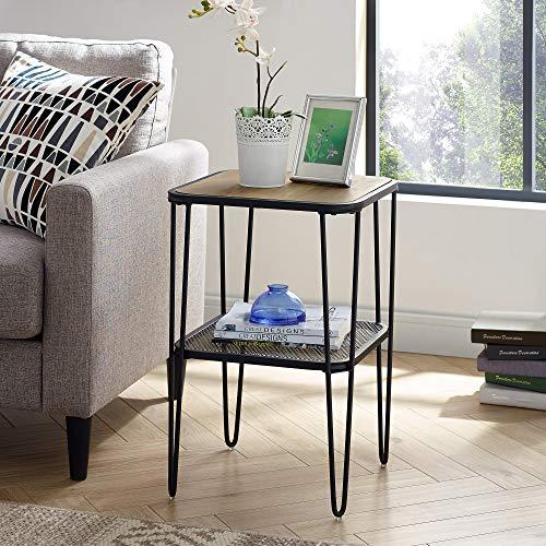 Lamp Side Baysdale Rustic Oak Nest Of 2 Tables End Sofa 60cm 40cm 50cm