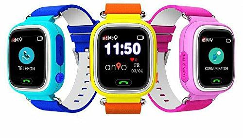 Anio Two WLAN Touch (blau) - Kinder GPS Smartphone Watch/Schutz für Ihr Kind/SOS Notruf + Telefonfunktion/Keine MONITORFUNKTION/GPS Uhr/WiFi + LBS, CE & RoHS & EN71