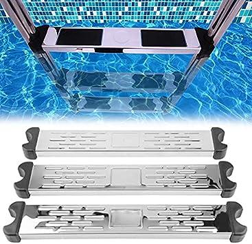 EliteMill Pedal de piscina de acero inoxidable, ligero y portátil, escalera de pedal de piscina, pasos de repuesto, accesorios antideslizantes para piscina, escalera para piscina
