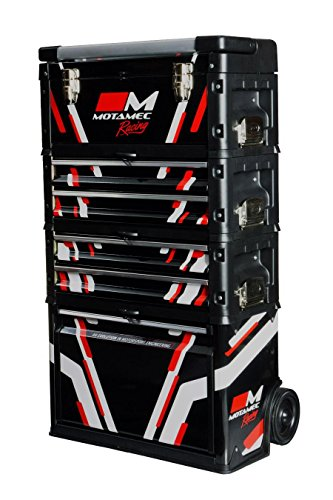 Motamec Racing Black Modular Tool Box Trolley Mobile Cart Cabinet Chest C41H