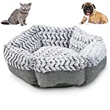 Soho Round Dog Bed for Small Dogs and Puppies - Also a Cat Bed For Indoor Cats - | Ultra Soft Plush | Memory Foam | Machine Washable | Puppy Bed | Pet Bed | Calming Cat Bed | Calming Bed for Dogs
