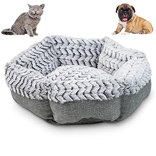 Pet Craft Supply Soho Round Machine Washable Memory Foam Comfortable Ultra Soft All Season Self Warming Cat Kitten Puppy Small Dog Bed, Grey (2172)