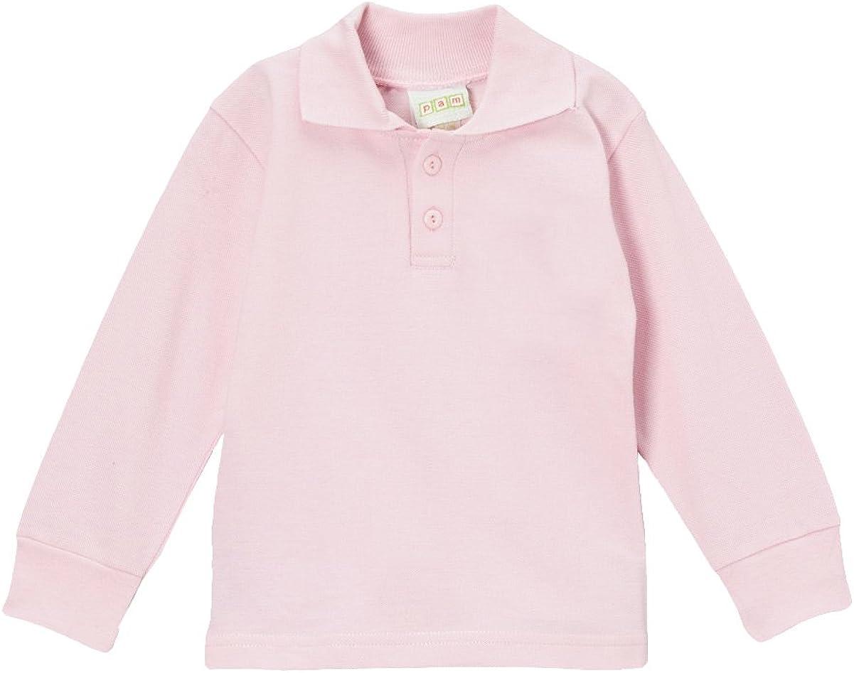 PAM Little Boys' Blank Long Sleeve Polo Shirt