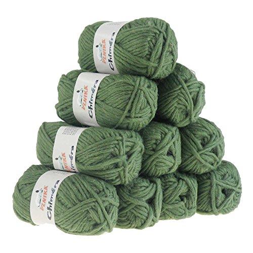 10 x 50g Filzwolle CHIMERA, Wolle zum Strickfilzen, Farbauswahl, Farbe:blassgrün