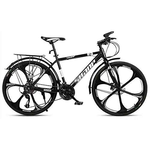 Bicicleta para joven Bicicletas De carretera Carretera Bicicletas Mountain Bike MTB adultos de la bicicleta de velocidad ajustable for hombres y mujeres de 26 pulgadas ruedas doble freno de disco Bici