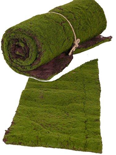 kunstpflanzen-discount.com Moos Deko künstliche Moosmatte mit 30x90cm - Gerollte Moosmatte aus Textilfasermaterial zum basteln