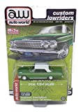 Autoworld 1/64 diecast Model of 1962 Chevy Impala SS Hardtop Green Metallic with White Top Custom Lowriders Limited Edition to 4800 Pieces CP7657
