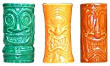 Tiki Shot Glasses 2 Oz. Comes with Green, Orange, and Brown