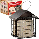bird feeder with metal roofs