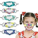 Mascarillas transparentes, 5 unidades de protección facial para niños y niñas, bandanas...