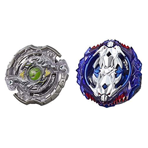 BEYBLADE Burst Turbo Slingshock Dual Pack Leopard L4 & Silver-X Jormuntor J4 – 2 Right-Spin Battling Tops, Age 8+