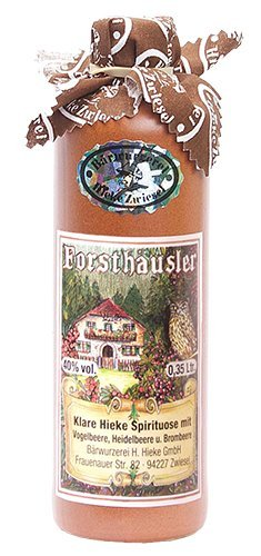 Hieke Zwiesel Forsthäusler 40% Bärwurzerei (Vogelbeere, Heidelbeere und Brombeere) 350ml.