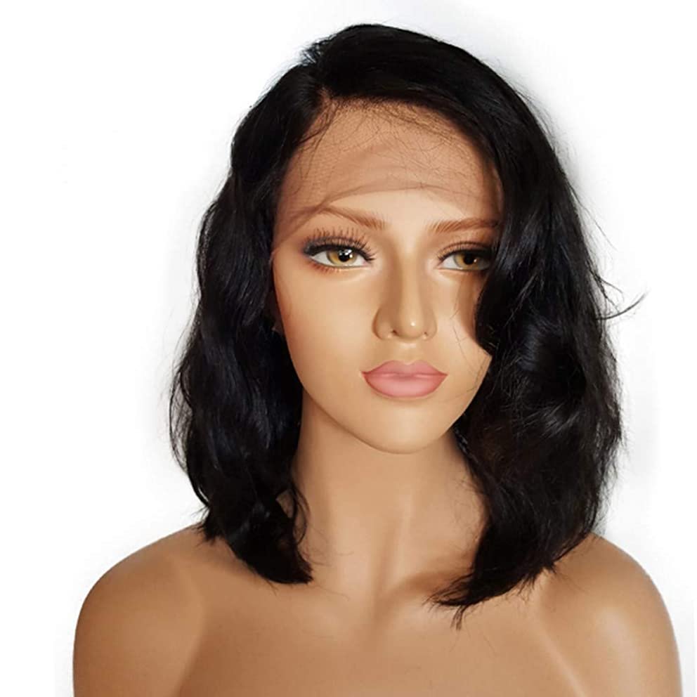 HOT Sale!!! 2019 Ladies Brazilian Lace Front Bob Full Wig Natural Black Wave Wigs for Cosplay,Party&Daily Use Costume Wig