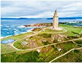 HCYEFG Puzzle 1000 Piezas Torre De Hércules O Torre De Hércules Es Un Antiguo Faro Romano En A Coruña En Galicia España para Niños Adultos Juguetes Regalo Rompecabezas