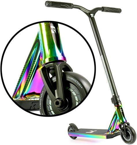 Root Industries Invictus Stunt-Scooter H=85cm Regenbogen Rainbow Oilslick Neochrome + Fantic26 Sticker