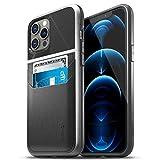 Vena Legacy Funda Cartera Compatible con Apple iPhone 12 Pro Max (6.7'-inch), (CornerGuard Protection, 2 Ranuras para Tarjetas) Carcasa de Cuero Case - Negro