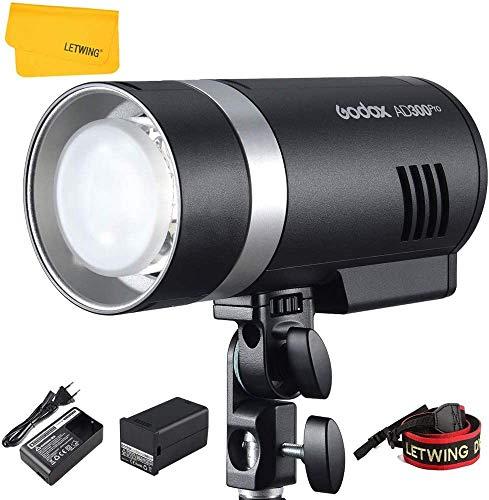 Godox AD300Pro AD300 Pro TTL Studio Flash 300Ws 2.4G HSS 1/8000s mit Lithium batterie Kompatibel für Nikon Canon Sony Fuji Olympus Panasonic Kamera