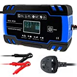 CQWL Car Battery Charger, 12V 24V Battery Charger & Maintainer Intelligent Automatic Battery Charger 3 Stage...