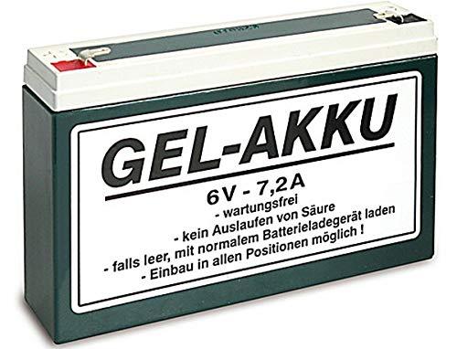 6V 7,2 Ah Vlies AGM Akku Batterie für Simson Mopeds inkl.7,50EUR Pfand