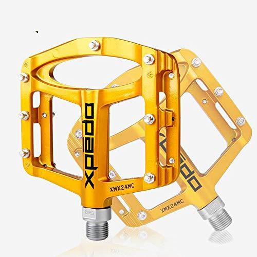 Wellgo Xpedo XMX24MC Pedals MTB BMX bici in lega di magnesio, Gold