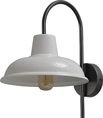 Lumineux pour hôtel (industriel, noir, blanc, abat-jour large) - Éclairage de cuisine - Lampe d'intérieur - Lampe de couloir - Lampe murale pour chambre à coucher