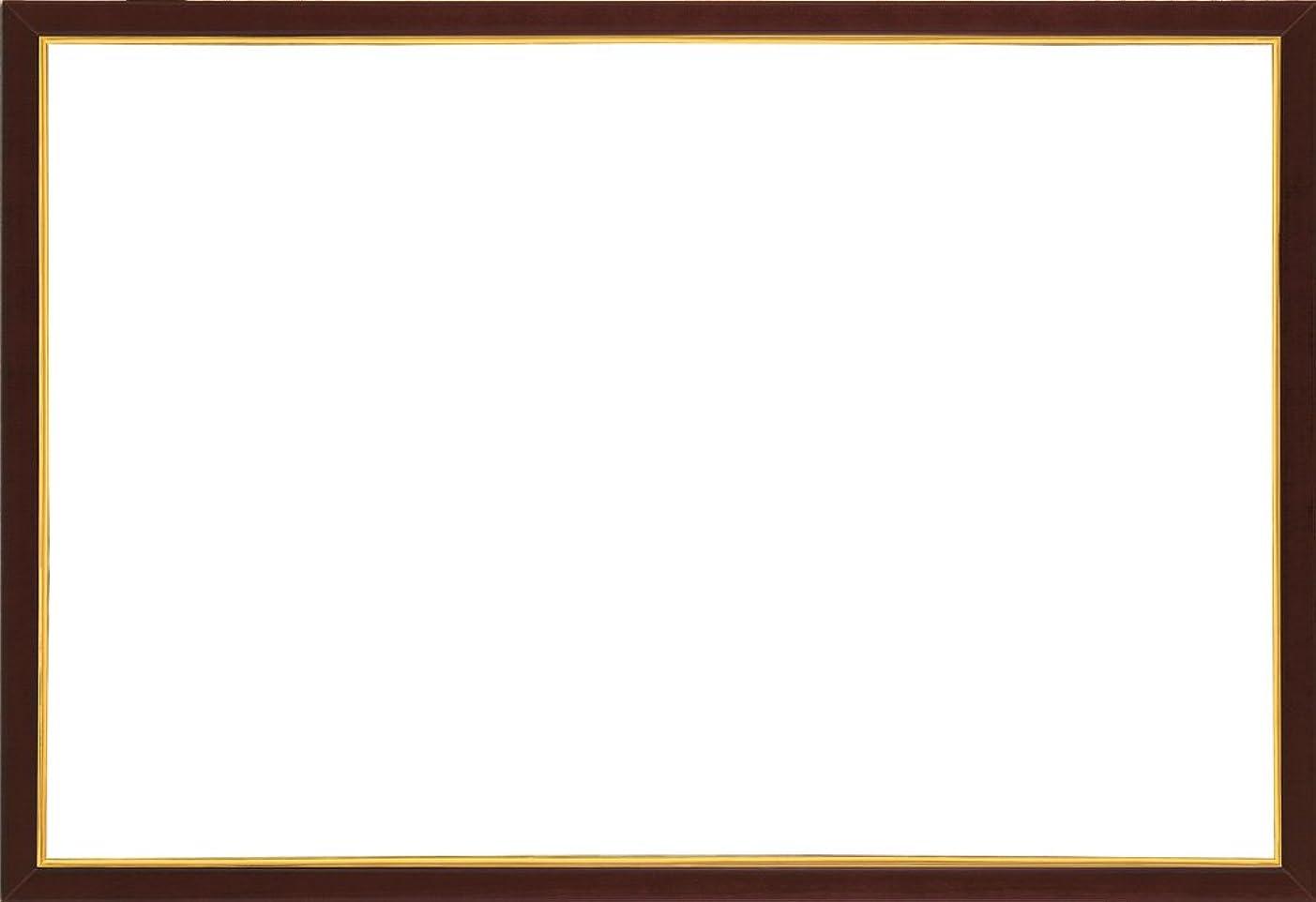一人でそよ風到着する木製パズルフレーム ウッディーパネルエクセレント ゴールドライン ブラウン(26x38cm)