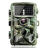 4K Trail Camera 20MP Waterproof Game Hunting Cam with 3 Infrared Sensors Motion Activated Night Vision for Wildlife Monitoring