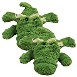 KONG Cozie Ali the Alligator Medium Dog Toy, Green (2 Pack)