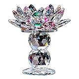Candelabro De Cristal Con Forma De Flor De Loto, Candelabro De Luz De Té, Candelabro Colorido, Soporte De Faro, Presente Decorativo Superior