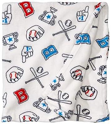 "Bon Bebe Unisex Super Soft and Cozy 30""x 36"" Plush Baby Blanket"