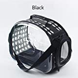 WINNER POP Transparent Cat Dog Carrier Bag Space Capsule Foldable Breathable Pet Travel Bag Outdoor Backpack Puppy Travel Carrying Handbag, Suitable for Large and Small Dogs, Black,36x20x22