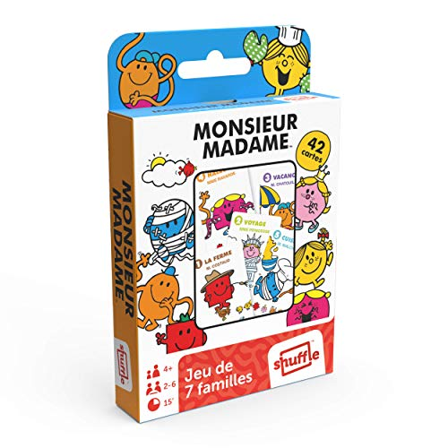 Shuffle 7 Familles Monsieur Madame-Jeu de Cartes, 108602898