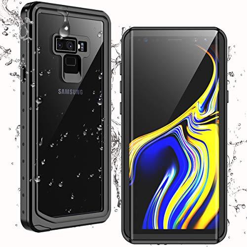 Temdan für Samsung Galaxy Note 9 Hülle, IP68 Wasserdicht, Staubdicht, Stoßfest, mit Integriertem Bildschirmschutz 360 Grad R&umschützende Hülle für Samsung Galaxy Note 9, 6,4 Zoll Schwarz