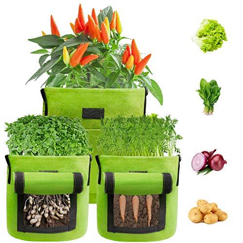BAGOKIE Grow Bags, Potato Grow Bags 7 Gallon 3 Pack,...