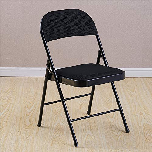 Premier Housewares - Silla plegable con asiento de efecto piel con marco de metal resistente, asiento acolchado cómodo, plegable, fácil de guardar, 78 x 43 x 40 cm moderno Large 10