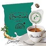 BOCCA DELLA VERITA - Paquete de 50 Cápsulas E.S.E. Aroma GINSENG AMARO, Cápsulas Compatibles con Cafetera E.S.E. dm 44mm,...
