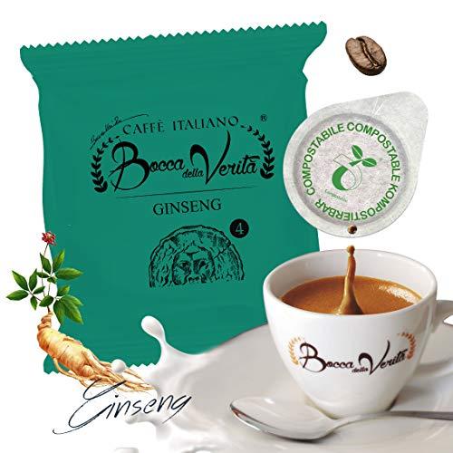 Ginseng Coffee (Bitter, Special for Athletes) - 50 Pods ESE 44 mm - Bocca della Verità - 100% Italian Coffe