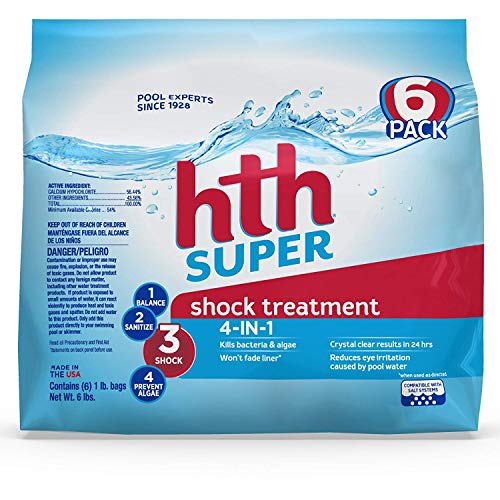 HTH Pool Shock Super Shock Treatment 4-in-1 6 Count (52016)
