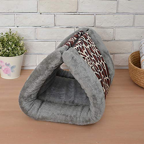 GCP 2 In 1 Dog Bed Cushion,Plush Washable Lightweight Pet Play Nesting Cave Reversible Pet Bed With Zipper