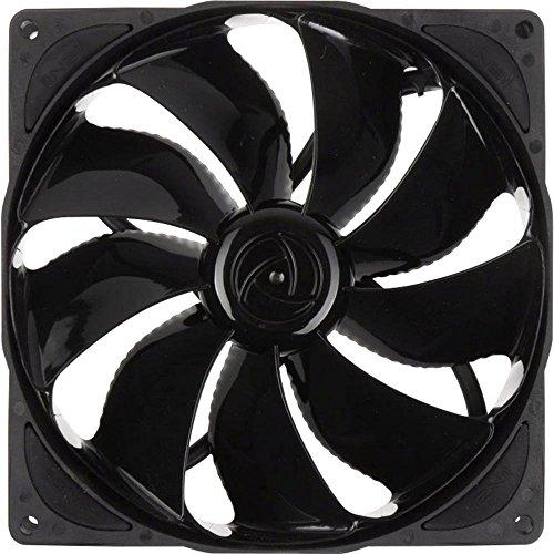 Noiseblocker PC Gehäuselüfter 140mm NB-eLoop PC Fan B14-PS Black Edition, PC Fan 140mm Lüfter PWM, Kühler PC mit Extrem Silent Wings und Max Lautstärke bis 24,28 dB (A)