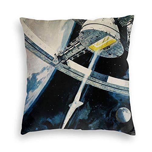WH-CLA Throw Pillow Covers 2001 A Space Odyssey Decoraciones para Sillas Cuadradas De Interior Throw Pillow Funda Cojín Dormitorio Sofá Funda De Cojín 45X45Cm Funda De Almohada Funda De